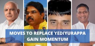 Moves to replace Yediyurappa gain momentum