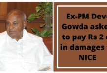 Ex-PM Deve Gowda asked to pay Rs 2 cr in damages to NICE